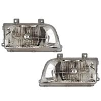 Fits 98-02 Kia Sportage Left / Right Headlamp Assemblies - Set