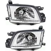 Fits 01-02 Subaru Forester Left Driver & Right Passenger Headlamp Assembly Set