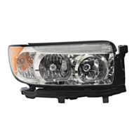 Fits 06-08 Sub. Forester Right Driver Halogen Headlamp Assembly w/chrome bezel