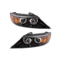 Fits 11-13 Kia Sorento Left & Right Halogen Headlamp Assemblies - Set