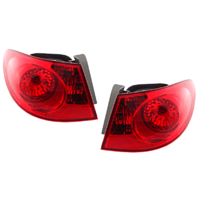 Fits  07-10 Hy Elantra Left & Right Set Tail Lamp Assemblies Quarter Mounted