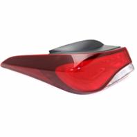 Fits 14-16 Hy Elantra Sedan Left Driver Tail Lamp Assembly Quarter Mounted Bulb
