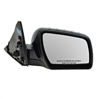 Fits 12-13 Soul Right Pass Mirror Power Non-Painted Black w/ Heat, Signal, Fold