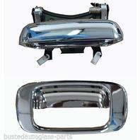 Fits 99-07* Silverado, Sierra Classic Rear Tailgate Chrome Handle & Bezel Set