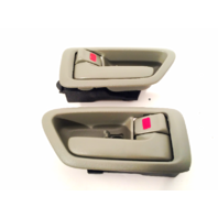 Fits 97-01 Camry Left &Right Set Front / Rear Interior Door Handle w/ Bezel Sage