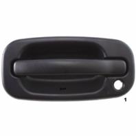 Fits 99-(07) Chevy Silverado Classic Left Driver Exterior Door Handle Text Black