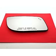 Fits 12-16 Lincoln MKS Right Pass Mirror Glass Heated, w/ Blind Spot Detection & Rear Holder  Genuine OE