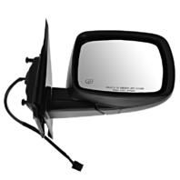 Fits 09-15 Dodge Journey Right Pass Power Mirror Textured w/Heat Manual Fold