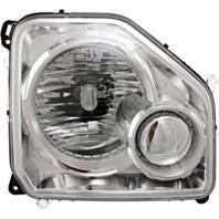 Fits 08-12 Jeep Liberty Left Driver Headlamp Assembly W/Chrome Bezel No Fog Lamp