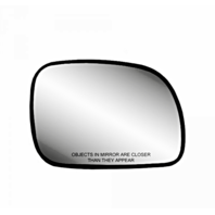 Fits 96-07 Caravan, Town & Country Right Pass Mirror Glass w/Rear Holder