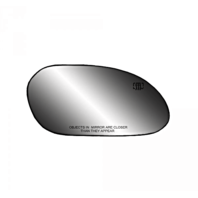 Fits 00-07 Taurus, Sable Right Pass Side Heated Mirror Glass  w/Rear Back Plate