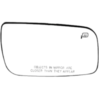 Fits 08-09 Ford Taurus Right Pass Heated Mirror Glass  w/ Rear Back Plate