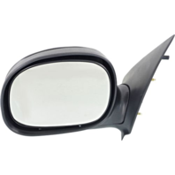 Fits 97-02 To 2/11/02 Ford Pickup Light Duty Left Driver Mirror Manual Unpainted