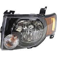 08-12 Ford Escape & Escape Hybrid Left Driver Headlamp Assembly W/Dark Bezel