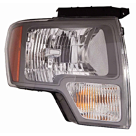 Fits 09-14 Ford F150 Right Pass Halogen Headlamp Assembly W/Sterling Gray Trim