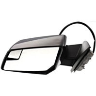 Fits 07-10 Saturn Outlook Left Driver Pwr Mirror W/Heat,Sig,Spotter,Manual Fold