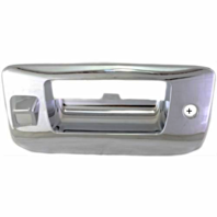 Fits O7*-13 Silverado, Sierra 1500, 07-14 2500, 3500 Tailgate Bezel Chrome  Models w/ Keyhole. Rear View Camera
