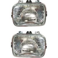 Sealed Beam Headlight Fits 96-18 Chevy Express, GMC Savana Van Left & Right Set
