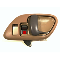 Left Inside Power Door Handle & Bezel Tan Front or Rear Fits GM Trucks, SUV