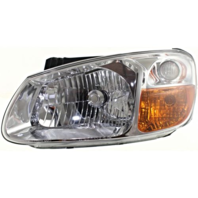 Fits 07-09 Kia Spectra, 07-09 Spectra5 Left Driver Headlamp Assem W/Chrome Bezel