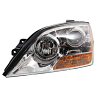 Fits 07-08 Up to Prod 4/21/08 Kia Sorento Left Driver Headlamp W/Chrome Bezel