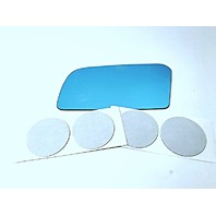 88-92 Mazda 626, Mx-6 Left Driver Side Blue Mirror Glass Lens