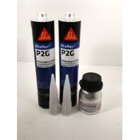 Auto Glass Urethane / Adhesive / Sealant  Primerless to Glass  2 Tubes Sika P2G & Primer
