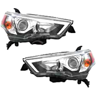 Left & Right Halogen Headlight Assemblies for 14-17 Toy 4Runner
