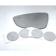 Fits 16-18 Passat  Left Driver Mirror Glass Lens w/Blind Spot Detection Icon
