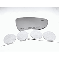 Fits 16-18 Passat  Right Pass Mirror Glass Lens w/Blind Spot Detection Icon