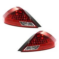 Fits  06-07 Honda Accord Coupe Left & Right Set Tail Lamp Unit Assem Black RIM