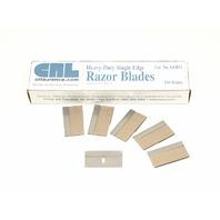 "CRL .012"" Single Edge Heavy Duty Metal Razor Blades 500 pack"