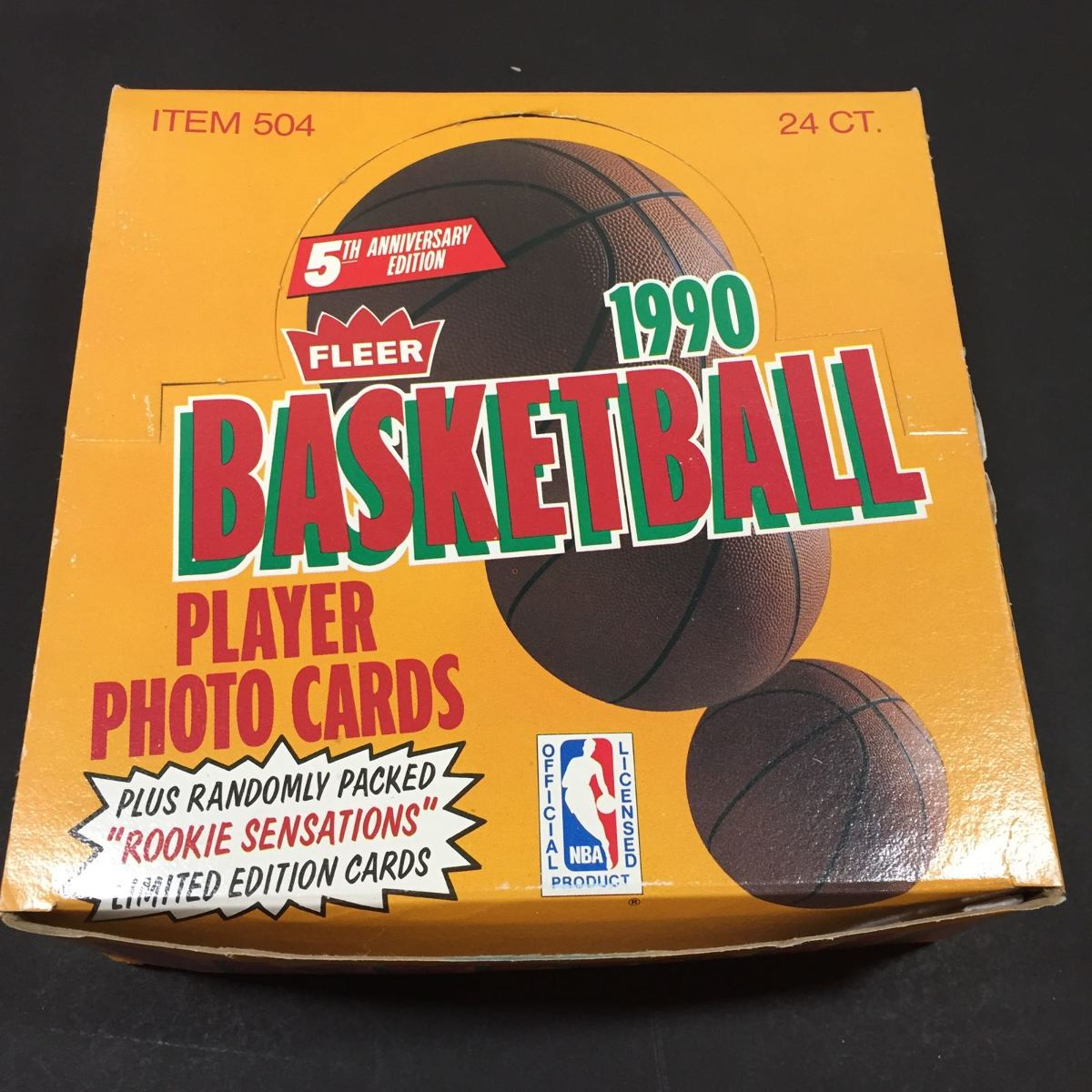 1990-91 Fleer NBA Basketball Cards -Unopened Jumbo Wax