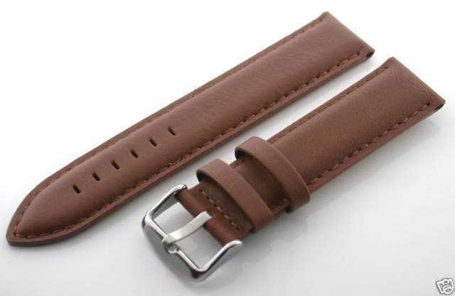 18mm leather strap band for longines watch light brown 4 for Longines leather strap