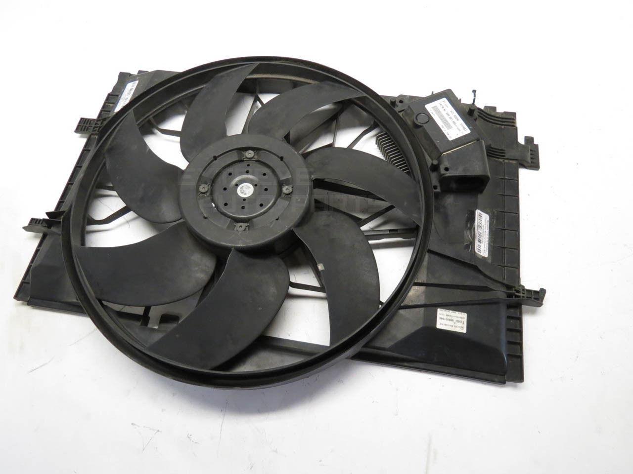 mercedes c230 02 05 radiator cooling fan motor w shroud. Black Bedroom Furniture Sets. Home Design Ideas