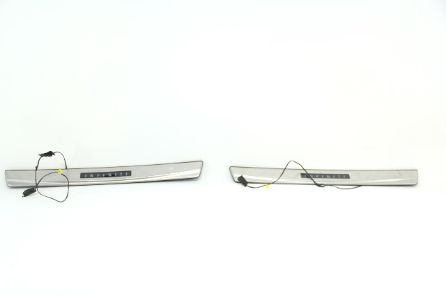 Infiniti G37 Sedan 08-13 Outer Scuff Kick Plate Set Chrome OEM 08-13