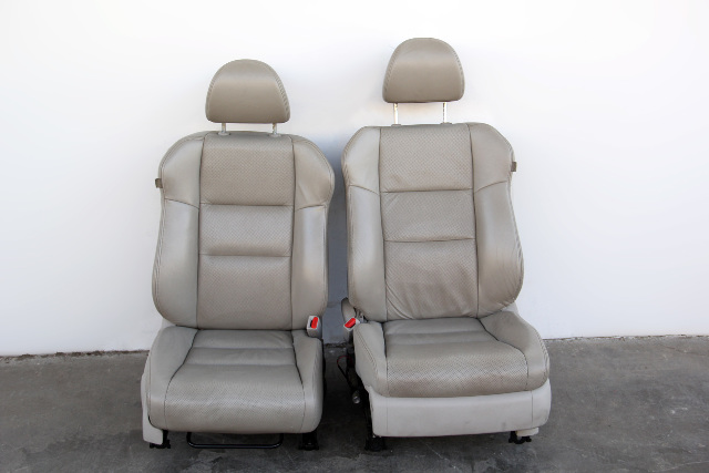 Acura RDX 07-08 Front Left/Driver Right/Passenger Seat Grey/Gray Leather Set OEM