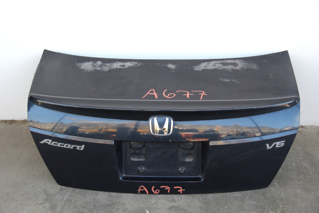 Honda Accord Sedan 08 09 10 Trunk Deck Luggage Lid w/ Spoiler Blue OEM