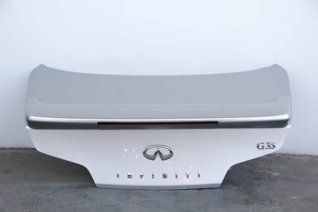 Infiniti G35 Coupe Trunk Deck Lid Tail Gate, Silver H4300-AM8AM 03-07