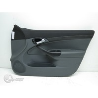 Saab 9-3 03-07 Door Panel Lining Trim, Front Right Passenger, Leather Gray