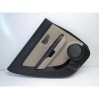 Kia Soul 10 11 12 Door Panel, Rear Left Driver Side Tan Leather