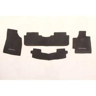 Toyota Highlander 08 09 10 Black OEM Floor Mats Mat w/ Third Row Complete Set