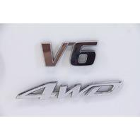 Toyota Highlander 08 09 10 Toyota Emblem Set V6 4WD Trunk Lid Gate OEM