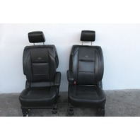 Infiniti QX56 Front Seat Set Right/Left Passenger/Driver Black Leather 08-10 OEM