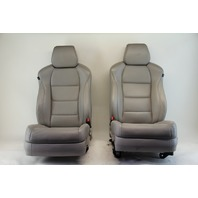 Acura TL Type-S Front Left & Right Seat Assembly Set, Gray/Grey Leather