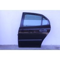 Saab 9-3 Sedan 03-07 Rear Door Assy. Left/Driver's Side Electric, Black OEM