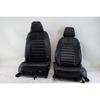 VW CC Rline Front Seat Set Left/Driver Right/Passenger Black Leather OEM 09-15