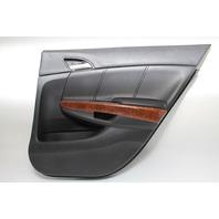 Honda Accord Sedan 08-12 Door Panel Rear Right Black/Wood Leather 83702-TA5-A64