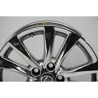 Lexus ES350 Rim Wheel Chrome 17in 10 Spoke #2 42611-33700 OEM 10 11 12