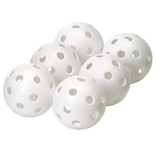 "Champion Sports Yellow Plastic 12/"" Softballs Training Practice Balls Set of 6"